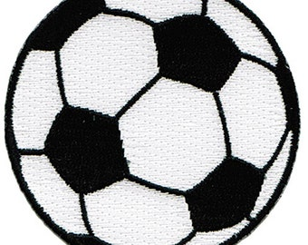 SOCCER BALL PATCH iron-on embroidered major league sports emblem World Cup Football