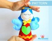 Angel Pattern, Felt Angel, Christmas Angel Pattern, Pdf Pattern, Doll Pattern Instant Download A808