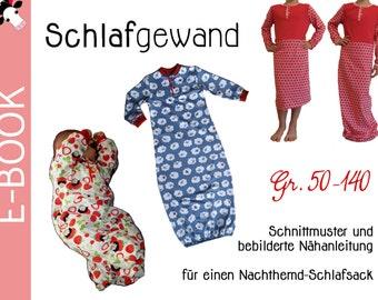 pdf *Schlafgewand* BABYGOWNS - Schlafsack - sewing patterns Gr. 50-140 (0-9 years)