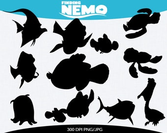 spring sale finding nemo instant download silhouette clipart digital ...