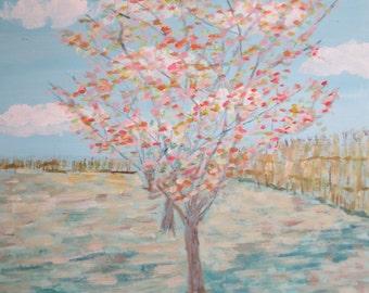 Variation on Van Gogh's 'pink peach trees'