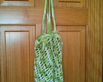 Crocheted Market Bag in Green
