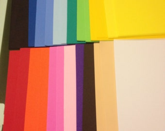 Pack of 20 Foam Sheets - For Fofuchas Doll Crafts Foam Sheets Goma Eva Sheets Size 11 inches by 8 1/2 sheet Letter Size Pick your color