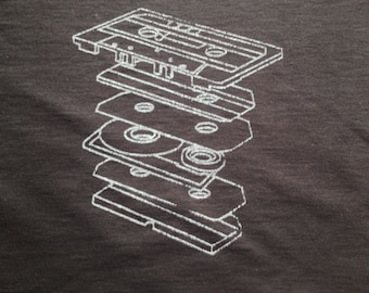 Tape Cassette t shirt by Defstar Clothing.