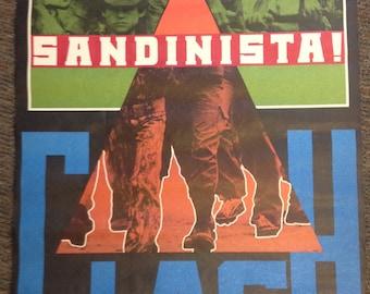 Vintage THE CLASH Sandinista Original Large Subway Promo Poster 1981 Very Rare