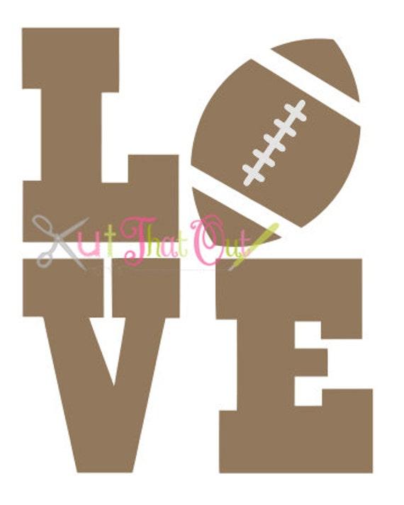 Football Love Design Svg File