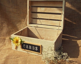 Rustic Card Box Wedding Party