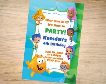 Bubble Guppies Birthday Invitation - Bubble Guppies Invitation - Bubble Guppies Invite - Printable Invitation - Digital