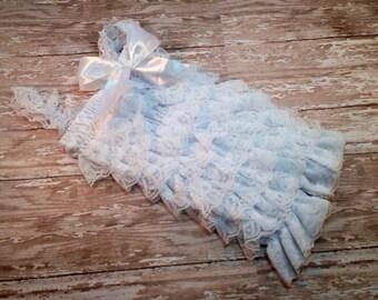 White Lace Petti Romper