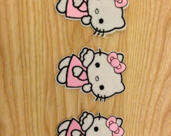 16 x Hello Kitty with Wings - Pink - Iron On Applique