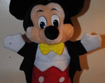 Walt Disney World Disneyland Mickey Mouse Puppet!!! Authentic & Vintage!