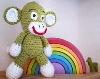 Green Amigurumi Monkey