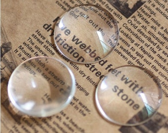 10pcs 30mm Clear Glass Transparent Clear Oblate Cabochon Cameo Cover Cabs Findings