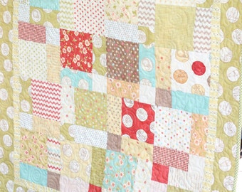 Whimsical Squares Baby Quilt (2 Available - Perfect for Twins!)