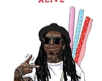 Lil Wayne Birthday Card - 'Best Wrapper Alive' (Hip Hop / Rap Cards)