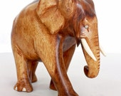 Elephant Figurine - Hand Nandu Wood carved from old Sri Lanka technology