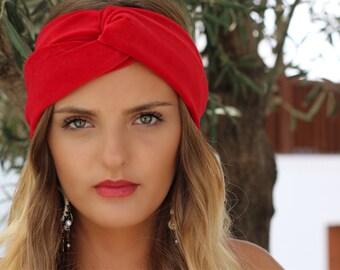 Red velvet Turban