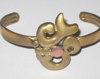 Vintage Bracelet,Brass And Copper,Cool Design,Adjustable Size,Free Shipping