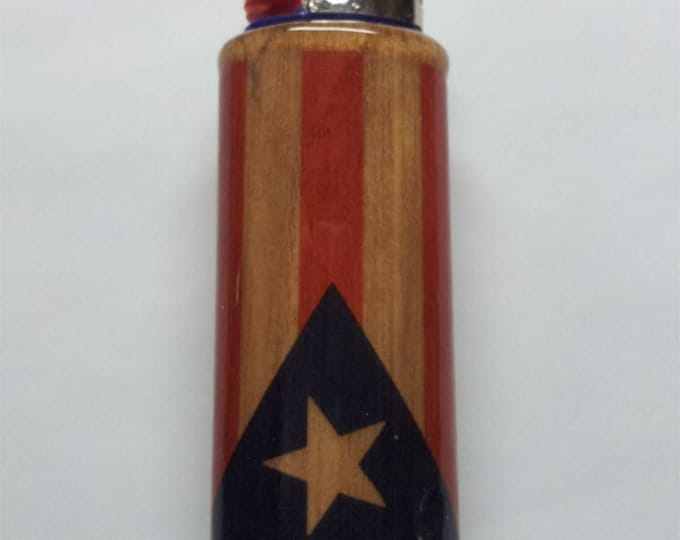 Puerto Rican Flag Lighter Case, Flag of Puerto Rico Lighter Holder, Lighter Sleeve