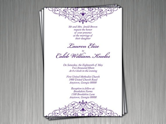 Traditional Elegant Wedding Invitations: Elegant Traditional Wedding Invitations Set Of 20