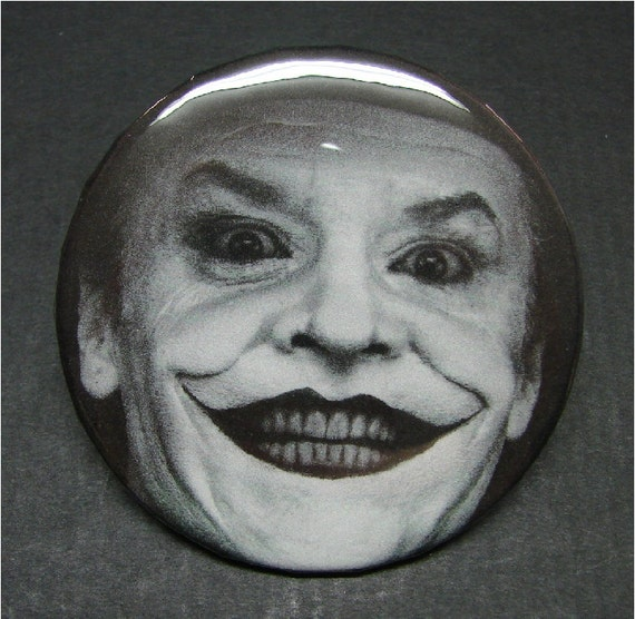 Jack Nicholson Joker 2-1/4 Pinback Pin Button Badge By