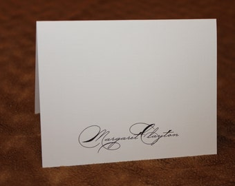 Elegant Personalized Note Cards - Stationary - Set of 12