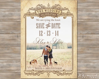 Vintage Photo Save the Date
