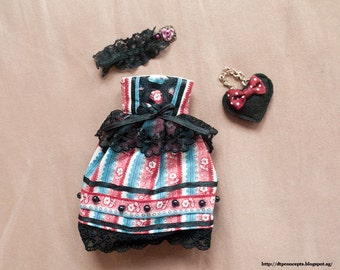 A dress outfit for 1/6 obitsu dolls