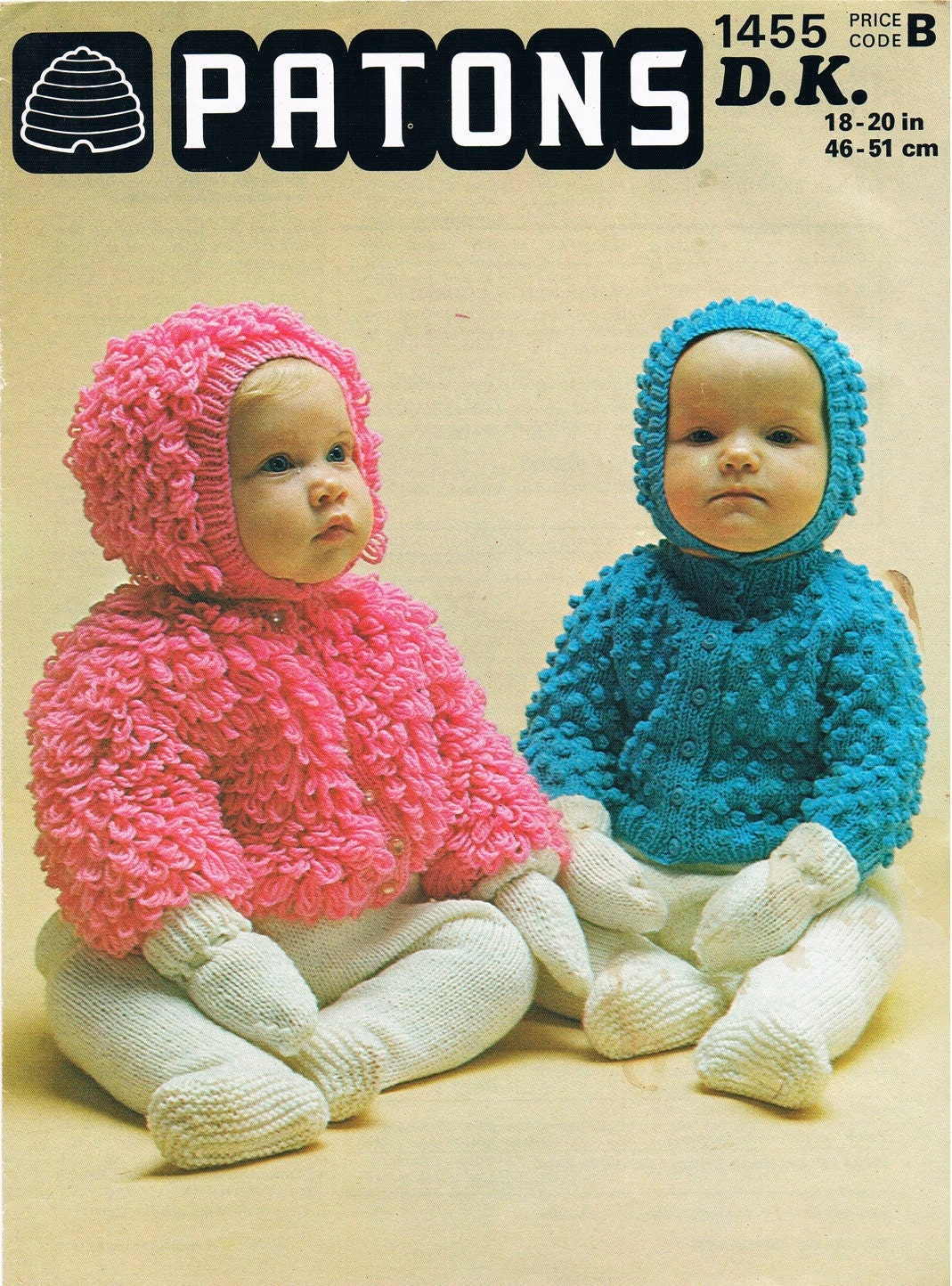 Loopy Cardigan Knitting Pattern : Vintage knitting pattern pdf s patons baby bobble or