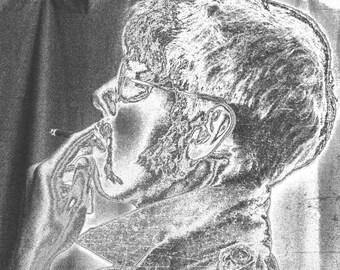 Smoking man digital art photograph