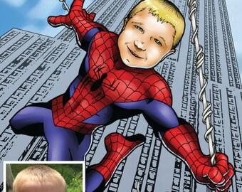Custom Superhero Caricature Featuring Your Child!