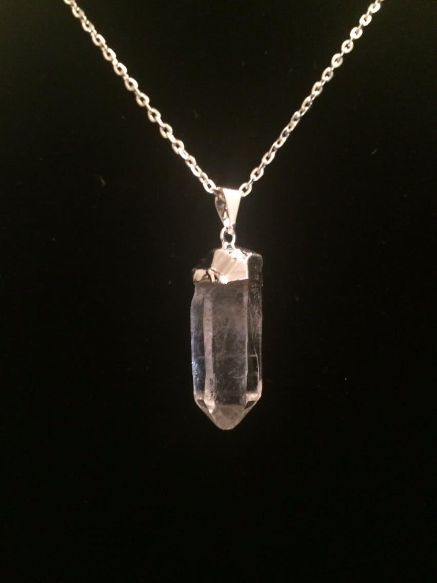 quartz necklace raw quartz necklace quartz pendant. Black Bedroom Furniture Sets. Home Design Ideas