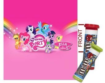 DIY Digital My Little Pony Printable Birthday Party Mini M&M Tube Wrapper, Label 002