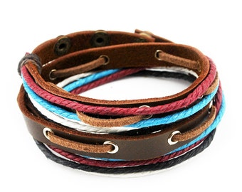 axy wrap bracelet TWIC11-6!  Leather Bracelet