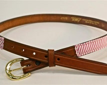 Silk and Leather Belt