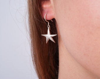 Starry night earrings made from recycled sterling silver, jewellery made in Munich, gift for her