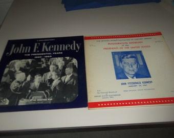 2 John F. Kennedy record albums