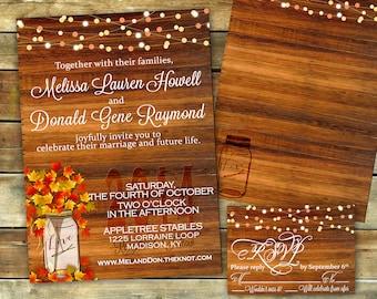 fall wedding invitation | etsy, Wedding invitations