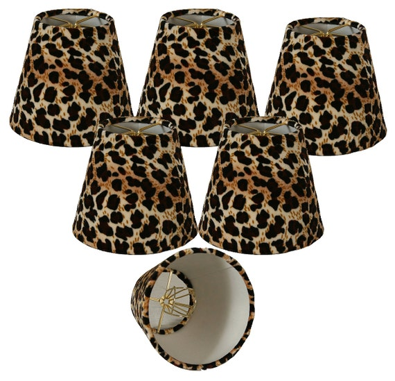 6 Pack Of 5 Black Amp Brown Leopard Print By Royallampshades