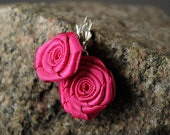 """Lovely pink earrings """"Bright rose"""""""