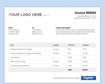 how to change picture on paypal invoice