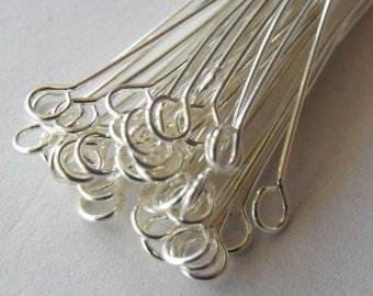 50pcs silver Eye Pins