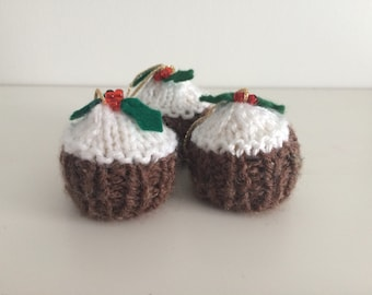 Christmas Ornament - Ferrero Rocher Christmas Pudding Cover - Knitted Christm...