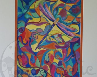 Dragonfly Print Dragonfly Art Colourful Dragonfly Art Work Spiritual Dragonfly Print NO POSTAGE AUSTRALIA