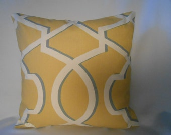 16 x 16 Morrow Saffron Yellow Pillow Cover
