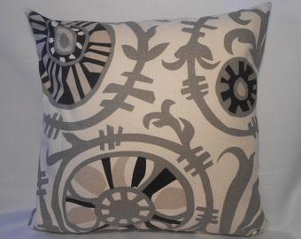 16 x 16 Suzani Vine/Natural Pillow Cover