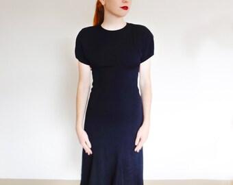 1970's Black Avant Garde Dress
