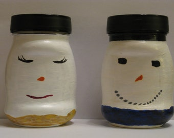 Mrs. and Mr. Snowman