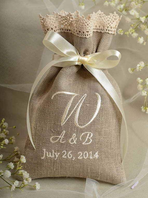 ... Wedding Favor Bag ,Lace Wedding Favor, County Style Favor Bags