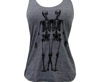 Skeleton Tank Top - Anatomical Skeletons American Apparel Tri-Blend Tank - Available in sizes S, M, L